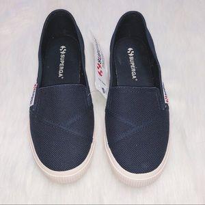 New Superga COTW Slip-On Navy Sneaker